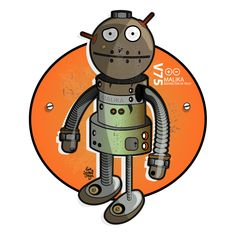 Mécanique Sociale : Robot Malika Robot, Illustration, Circle Of Friends, Flower, Illustrations, Robots
