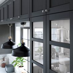 interior design kitchen dining room ideas and. Black Ikea Kitchen, Black Kitchens, Kitchen On A Budget, New Kitchen, Kitchen Dining, Kitchen Cupboard Doors, Kitchen Shelves, Cabinet Doors, Cottage Renovation