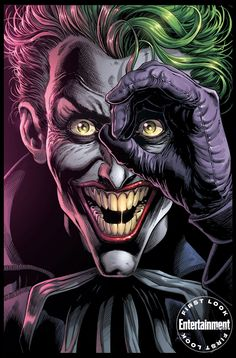 Batman: Three Jokers Book One cover by Jason Fabok, colours by Brad Anderson * Joker Batman, Joker Comic, Joker Dc Comics, Arte Dc Comics, Joker Art, Comic Art, Batman Arkham, Batman Robin, Comic Book