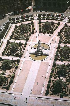 La Plaza de Oriente, Madrid , Spain