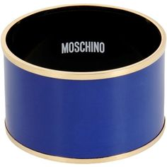 Moschino Bracelet (225 CAD) ❤ liked on Polyvore featuring jewelry, bracelets, blue, metal jewelry, metal bangles, blue bangles, moschino and blue jewelry