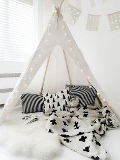 kids teepee tent grey white - Google Search
