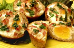 Egg and Bacon Tarts: Breakfast favorites all in one = genius.