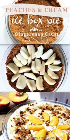 Peaches & Cream Ice Box Pie.  So cool & so easy to make.  Prep time is less then 10 minutes via Nest of Posies