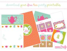 free tea party printables