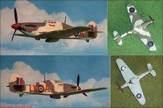 """Hawker """"Hurricane"""" F.Mk.IIc (Matchbox 11) 1:72"""