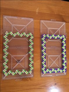 Photo frame perler beads by beads-land