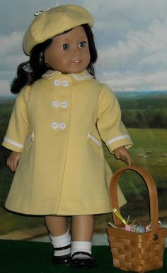 Yellow coat 1 by Sugarloaf Doll Clothes, via Flickr
