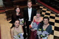 The finalists in the 2015 London Handel Festival's Handel Singing Competition