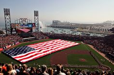 AT&T Park, San Francisco. Amazing views of the bay. An Anchor Steam beer and garlic fries are musts if you visit!