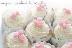 Vegan Icing Rosebud Cake Decoration Tutorial