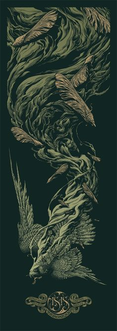 Isis / Baroness poster by Aaron Horkey