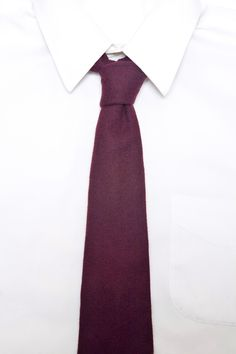 Oxblood 100% Felted Wool Long Tie