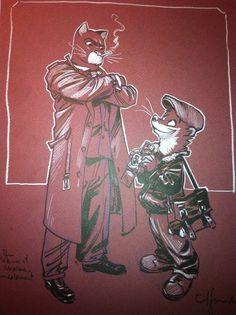 Blacksad et Weekly by Juanjo Guarnido - Illustration
