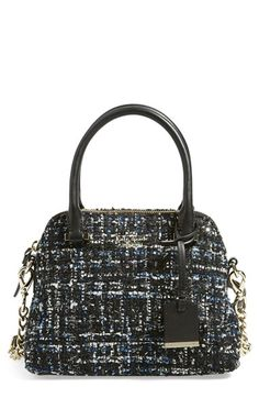 Free shipping and returns on kate spade new york 'emerson place - small maise' satchel at Nordstrom.com. A handsome tweed shot through with shimmering threads brings a distinguished look to a compact satchel furnished with an optional chain-and-leather shoulder strap and a dangling logo tag. Signature kate spade touches, including 14-karat gold-plated hardware and dot-jaquard lining, polish the style.