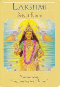 Lakshmi w Goddess Guidance Oracle Cards by Doreen Virtue