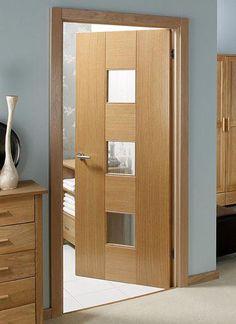 Internal door modern spaces Ideas for 2019 Flush Door Design, Home Door Design, Wooden Door Design, Door Design Interior, Oak Interior Doors, Oak Doors, Panel Doors, Wooden Doors, Wood Glass Door