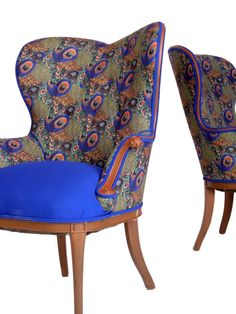 I could really see these wing chairs in my home!
