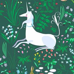 6bfd75a3170 Unicorn Tapestry in Green Unicorn Tapestries
