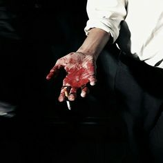 the blood on sh's hand is starting to dry now. sh can smell its faint metallic scent when he brings his hand up to his lips to smoke his cigarette. From Dusk Till Down, Dusk Till Dawn, Mafia, Richie Gecko, Revy Black Lagoon, Feral Heart, Les Innocents, Xavier Samuel, Marla Singer