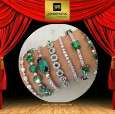 Emerald bracelet is going to spread their magic. Shop for emerald gemstone to embed it into stylish emerald diamond bracelets Emerald Bracelet, Emerald Gemstone, Emerald Jewelry, Emerald Diamond, Diamond Bracelets, Diamond Jewelry, Bangle Bracelets, Silver Bracelets, Emerald Rings