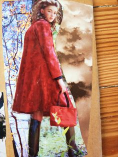 Little Red Riding Hood Collage Note Card on High by artisticdrama, $5.99