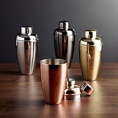 Earn back with the Crate & Barrel credit card. Create a stylish, functional home bar with high-quality bar accessories, including jiggers and shakers. Crate Bar, Crate And Barrel, Barista, Bartender Drinks, Home Bar Accessories, Home Bar Decor, Small Bars, Cocktail Shaker, Metal Roof
