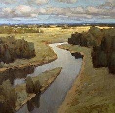 Alexander Zavarin 1954   Russian Landscape painter