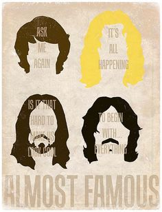 Almost Famous - Illustration by Derek Eads Norman Rockwell, Famous Movies, Good Movies, Almost Famous Quotes, It's All Happening, Alternative Movie Posters, Great Films, Minimalist Poster, Music Tv
