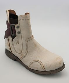 Fly London Off-White Strub Boot