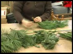 How to make evergreen garland and bows