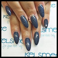 Acrylic nails with ManiQ Sapphire dust Diy Nails, Cute Nails, For Your Nails Only, Latest Nail Art, Nails At Home, Cool Nail Designs, Perfect Nails, Nail Tips, Beauty Nails