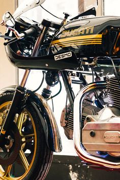 Vintage Ducati from Parr's collection.