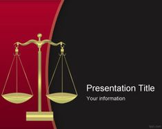 Free Justice PowerPoint template for law lectures online and law presentations