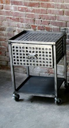 Metal Furniture Side table Love this kind of furniture for a boys room!