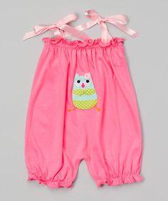 Strawberry Bikini Owl Bubble Romper - Infant & Toddler by Victoria Kids