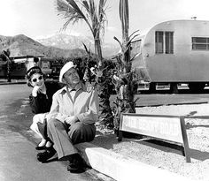 Palm Springs, CA: Jack Benny and his wife Mary Livingstone.
