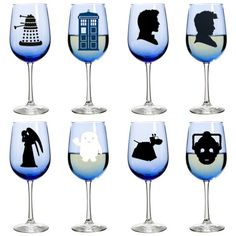 It's not a party until you bring out the Doctor Who Wine Glasses. These accessories feature a blue tint and silhouettes of Doctors 11 and 12, the TARDIS, K-9 and several of the Doctor's…