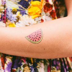 #small #tattoo #watermelon