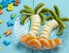 Teller-Dekorationen mit Essen - Obst für Kinder geschmackvoll anrichten