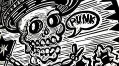 Mexican Punk GRABADO EN LINOLEO- Impresión. de EtceteraGALLERY en Etsy