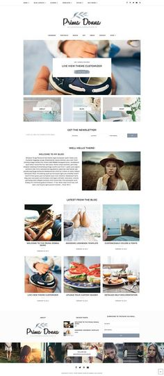 Genesis WordPress Theme, Prima Donna by Georgia Lou Studios on @Graphicsauthor