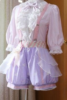 I refer to Connie's pj to have this type of pants look with a tank/tub top Harajuku Fashion, Kawaii Fashion, Lolita Fashion, Cute Fashion, Fashion Outfits, Ladies Fashion, Fashion Styles, Fashion Ideas, Style Lolita