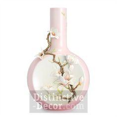 Franz Porcelain Collection Magnolia Flower Large Vase Limited Edition