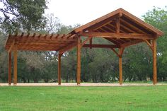 With a pergola on the side