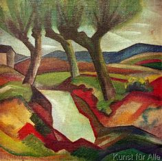 August Macke - Weide am Bach