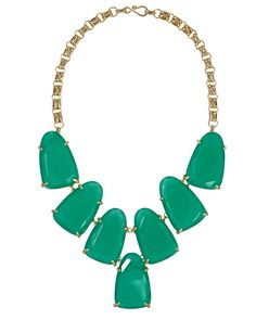 Harlow Necklace in Green - Give the statement necklace of the season by Kendra Scott!