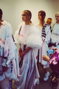 Janni Vepsalainen, backstage of Royal College of Art MA fashion show 2014