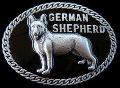 GERMAN SHEPARD PET DOG PUPPY CHAIN 3D QUALITY  BELT BUCKLE