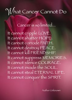 What Cancer Cannot Do - Cards by Sandra Rose